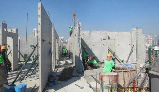 Precast-Wall-Installation